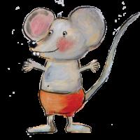 Het muisje van Pjut nodigt je uit om contact op te nemen