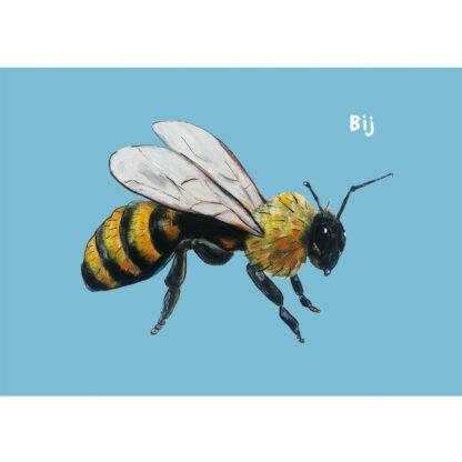 bij, bijen, kaart, illustratie