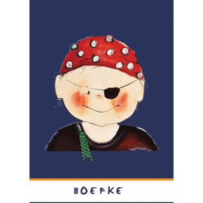 kaart van piraatje. Illustratie van Atelier Pjut.