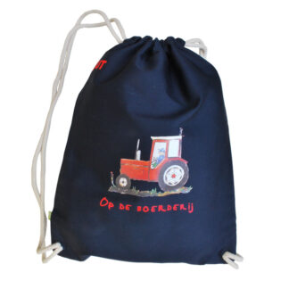 canvas rugzak rode tractor