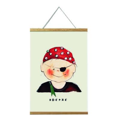 poster piraatje 20x30 van atelier Pjut. Voor de nautische kinderkamer in lijst