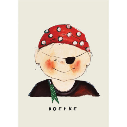 poster piraatje 20x30 van atelier Pjut. Voor de nautische kinderkamer