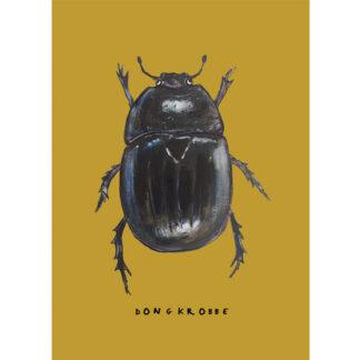 poster mestkever 20x30 voor de kinderkamer uit de serie met insecten.