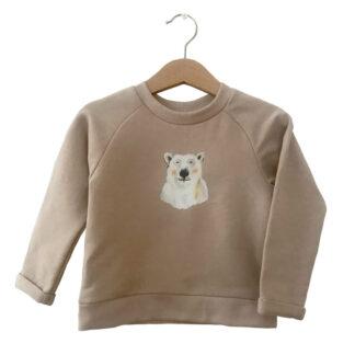 warme sweater ijsbeer in maat 86, 92, 98, 104, 110,116,122, 128. gemaakt van biokatoen