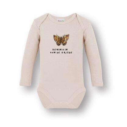 Organic romper vlinder van PJUT een origineel kraamkado van atelier Pjut. biologisch katoen