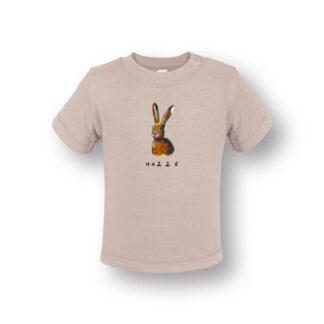 Baby T-shirt met haas. Illustratie van Inge Adema. Product is gemaakt van biologisch katoen