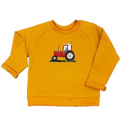 oker sweater rode tractor van duurzaam katoen