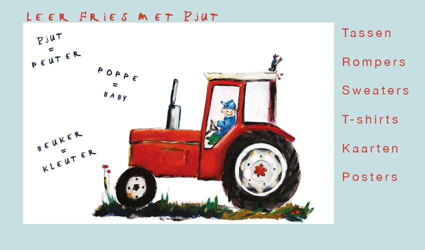 Rode tractor illustratie op een romper, gymtas, shirt, sweater of poster.
