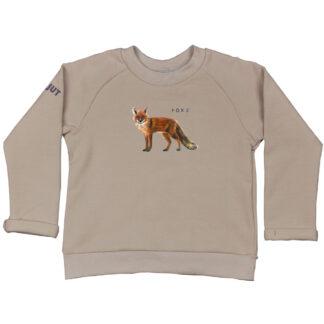 sweater met vos van biologisch katoen. In de maten 86 t/m 128